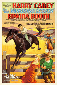 """The Vanishing Legion (Mascot, 1931). One Sheet (27.25"""" X 41"""") Chapter 2 -- """"The Queen of the Night Riders..."""