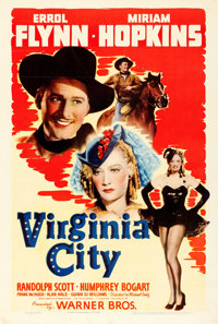 "Virginia City (Warner Brothers, 1940). One Sheet (27"" X 41"")"