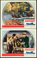 """Movie Posters:Western, Stagecoach (United Artists, 1939). Lobby Cards (2) (11"""" X 14"""")..... (Total: 2 Items)"""