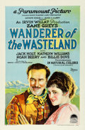"Movie Posters:Western, Wanderer of the Wasteland (Paramount, 1924). One Sheet (27"" X 41"")Style B.. ..."
