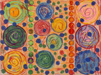 Pacita Abad (1946-2004) Make Love Not War, 2003 Lithograph in colors on embossed paper 32-3/4 x 4
