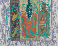 David Salle (b. 1952) Long and High, diptych, 1994 Woodblock, lithograph, and silkscreens in colors