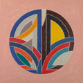 Fine Art - Work on Paper:Print, Frank Stella (b. 1936). Sinjerli Variation Squared with ColoredGround III, 1981. Lithograph in colors on wove paper. 32...