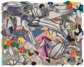Fine Art - Work on Paper:Print, Frank Stella (b. 1936). Ambergris, from Moby Dick DeckledEdges series, 1993. Lithograph, etching, aquatint, relief,and...