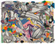 Frank Stella (b. 1936) Ambergris, from Moby Dick Deckled Edges series, 1993 Lithograph, etching, aquatint, relief, and...