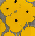 Fine Art - Work on Paper:Print, Donald Sultan (b. 1951). Eight Yellows with Flocked Centers,2002. Lithograph and woodcut with sprayed color paper pulp ...