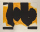 Robert Motherwell (1915-1991) Burning Elegy, 1991 Lithograph and handcoloring in colors on wove paper, with full margi...