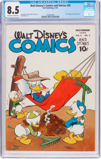 Walt Disney's Comics and Stories #50 (Dell, 1944) CGC VF+ 8.5 Off-white to white pages