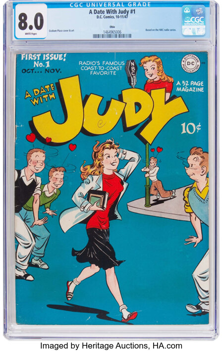 A Date With Judy #1 Ohio Pedigree (DC, 1947) CGC VF 8.0 White pages....