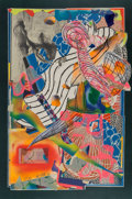 Fine Art - Work on Paper:Print, Frank Stella (b. 1936). The Candles, 1992. Lithograph,screenprint, and collage in colors on white Saunders mould-madep...