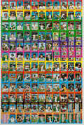 Baseball Cards:Sets, 1975 Topps Mini Baseball Full Uncut Sheet With George Brett andRobin Yount Rookies. ...