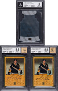 Autographs:Sports Cards, 1990's Mario Lemieux BGS-Graded Trio (3) With Two Signed Cards. ...