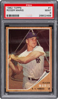 Baseball Cards:Singles (1960-1969), 1962 Topps Roger Maris #1 PSA Mint 9 - None Higher. ...