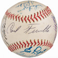 Autographs:Baseballs, Baseball Greats Multi-Signed Baseball. . ...