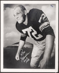 """Football Collectibles:Photos, Ray Nitschke """"First Day as a Pro"""" Signed Photograph - Numbered 54/72.. ..."""