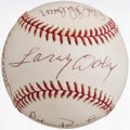 Autographs:Baseballs, Hall of Famers Multi-Signed Baseball (6 Signatures).. ...