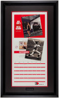 Autographs:Others, Mickey Mantle Signed Restaurant Calendar Display.. ...
