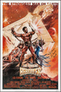"Movie Posters:Action, Hercules & Other Lot (MGM/UA, 1983). Autographed One Sheet (27""X 41"") & Lobby Card Set of 8 (11"" X 14""). Action.. ... (Total:9 Items)"