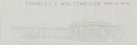 Frank Lloyd Wright (American, 1867-1959) Eight Architectural Renderings for the Charles T. Weltzheimer House