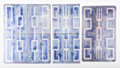 Decorative Arts, Continental, Gio Ponti (Italian, 1891-1979). Group of Eight Tiles, 1951,Paolo de Poli. Enameled copper. 6-1/8 x 7-7/8 inches (15.6 x...(Total: 8 Items)