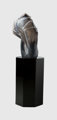 William Morris (American, b. 1957) Standing Stone, 1983 Blown glass, black acrylic pedestal 26-3/8 inches high (67.0...