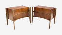 William Hinn (Swedish, 20th Century) Pair of Side Tables, circa 1955, The Swedish Furniture Guild for U