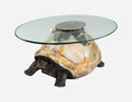 Furniture , Anthony Redmile (British, 20th Century). Tortoise Coffee Table, circa 1975. Tole painted composite, steel, glass. 16 x 2... (Total: 2 Items)
