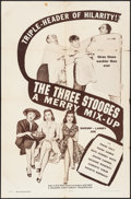 """Movie Posters:Comedy, A Merry Mix-up (Columbia, 1957). One Sheet (27"""" X 41""""). ThreeStooges Comedy.. ..."""