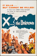 "Movie Posters:Science Fiction, X... the Unknown (RKO, 1957). One Sheet (27"" X 41""). ScienceFiction.. ..."
