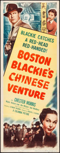 "Movie Posters:Crime, Boston Blackie's Chinese Venture (Columbia, 1949). Insert (14"" X36""). Crime.. ..."