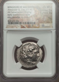 Ancients:Greek, Ancients: MACEDONIAN KINGDOM. Alexander III the Great (336-323 BC).AR tetradrachm (16.99 gm). NGC Choice XF 5/5 - 3/5....