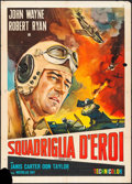 "Movie Posters:War, Flying Leathernecks (RKO, R-1960s). Italian 2 - Fogli (39"" X5.25""). War.. ..."