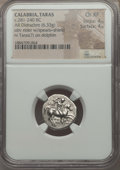 Ancients:Greek, Ancients: CALABRIA. Tarentum. Ca. 272-240 BC. AR stater or didrachm(6.33 gm). NGC Choice XF 4/5 - 4/5. ...