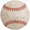 Autographs:Baseballs, 1973 New York Mets Team Signed Baseball (29 Signatures).. ...