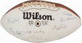 Football Collectibles:Balls, 1981 Baltimore Colts Team Signed Football (18 Signatures).. ...