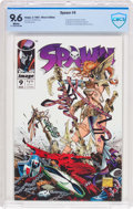 Spawn #9 (Image, 1993) CBCS NM+ 9.6 White pages