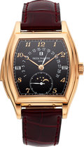 Timepieces:Wristwatch, Patek Philippe Important & Extremely Rare Ref. 5013R-010 Rose Gold Self-Winding Minute Repeater With Perpetual Calendar, Moon ...