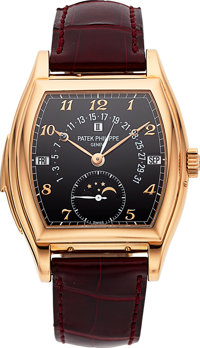 Patek Philippe Important & Extremely Rare Ref. 5013R-010 Rose Gold Self-Winding Minute Repeater With Perpetual C...
