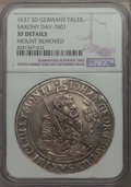 German States:Saxony, German States: Saxony. Johann Georg I Taler 1637-SD XF Details (Mount Removed) NGC,...