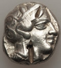 Ancients:Greek, Ancients: ATTICA. Athens. Ca. 440-404 BC. AR tetradrachm (17.02gm). Fine, test cuts, bankers marks....
