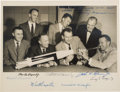 Autographs:Celebrities, Mercury Seven Astronauts: Early NASA Group Photo Signed by All. ...