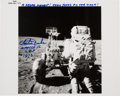 Explorers:Space Exploration, Charlie Duke Signed Apollo 16 Lunar Surface Original NASA PhotoOriginally from His Personal Collection, Signed and Certified....