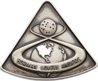 Apollo 8 Flown Silver Robbins Medallion, Serial Number 183, Originally from the Personal Collection of Mission Command M...