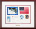 Explorers:Space Exploration, Space Shuttle Atlantis (STS-30) Flown American FlagPresentation in Framed Display....
