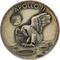 Explorers:Space Exploration, Apollo 11 Flown Silver Robbins Medallion, Serial Number 409, Originally from the Collection of Mary Bubb, the First Female Rep...