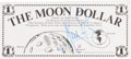 "Autographs:Celebrities, Neil Armstrong Signed ""Moon Dollar.""..."
