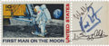 "Autographs:Celebrities, Apollo 11 Crew-Signed ""First Man on the Moon"" Stamp. ..."