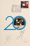"""Autographs:Celebrities, Apollo 11 Crew-Signed (Twice) """"Tribute to Aerospace"""" Dinner Program from May 20, 1989...."""