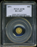 California Fractional Gold: , 1871 50C Liberty Round 50 Cents, BG-1027, R.3, AU58 PCGS. ...