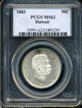 Coins of Hawaii: , 1883 50C Hawaii Half Dollar MS62 PCGS. ...